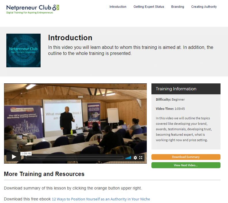 Online Training for Aspiring Entrepreneurs